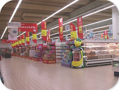 Linear Trunking System for Supermarket